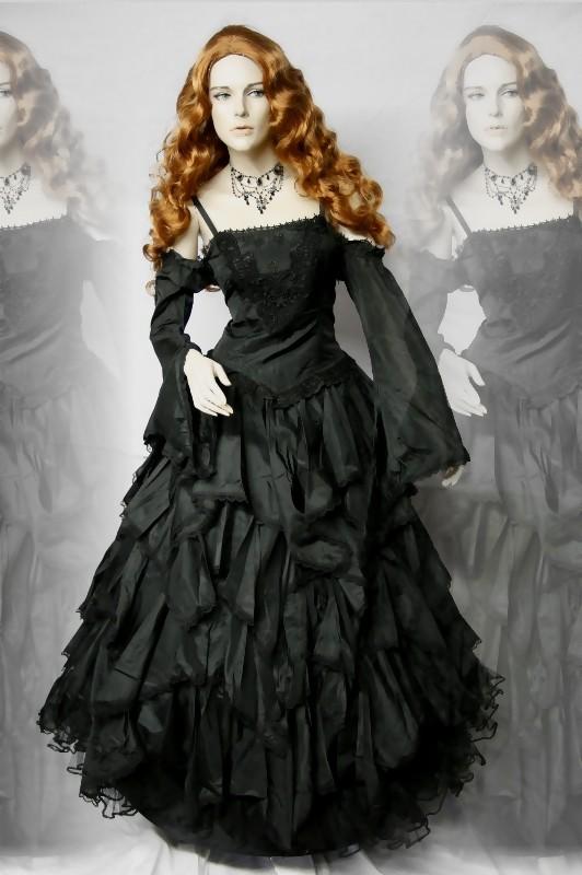 gothic mittelalter ballkleid kleid kaskaden abnehmbare. Black Bedroom Furniture Sets. Home Design Ideas
