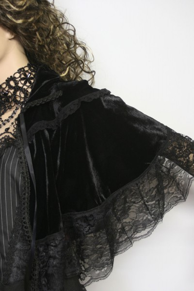 gothic steampunk mittelalter victorian schulter cape. Black Bedroom Furniture Sets. Home Design Ideas