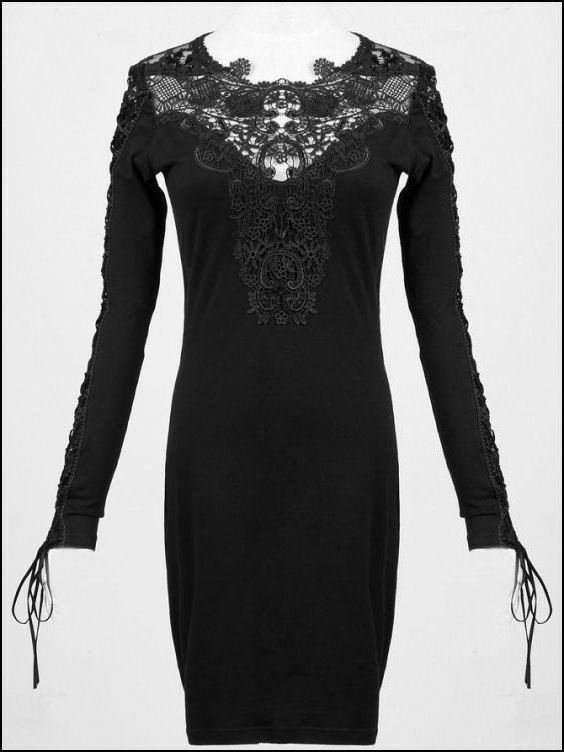 gothic punk rave lolita shirt kleid spitze dress das. Black Bedroom Furniture Sets. Home Design Ideas